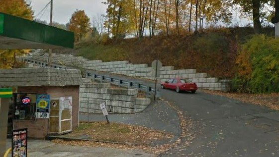 Court St retaining walls Franklin Carbon PA a